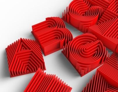 Heatwave 3d Printable Typeface