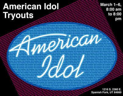 American Idol Typographic Poster