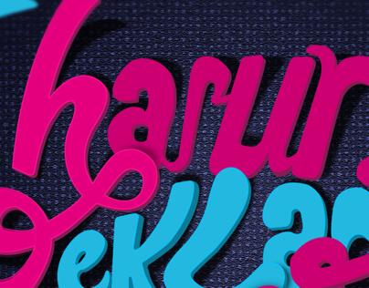 Harun reklam text tipography