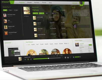 Saavn Website Concept
