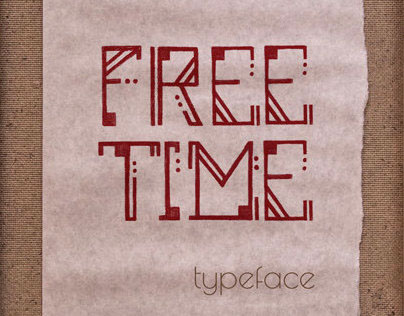 FREE TIME typeface