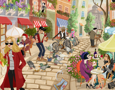 Paris - Sketch to final