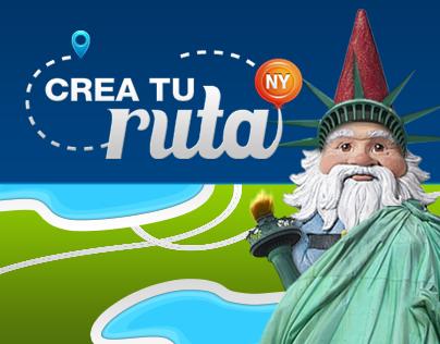 Aplicación Facebook / Travelocity - Crea tu ruta NY