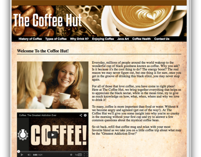 The Coffee Hut - Web Design Project