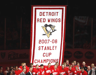 2008 Stanley Cup Banner Raising Fail Compilaton