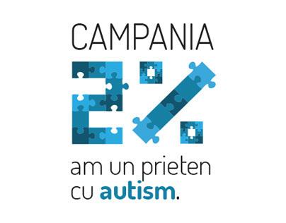 Campania 2% - Am un prieten cu autism.