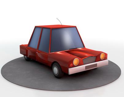 Cartoon car on C4D