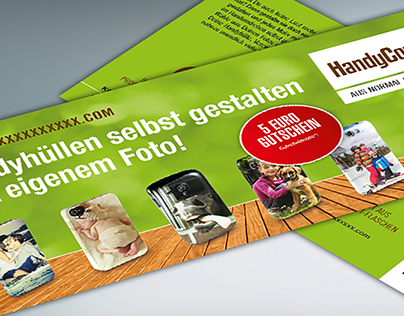 Flyer für Onlineshop