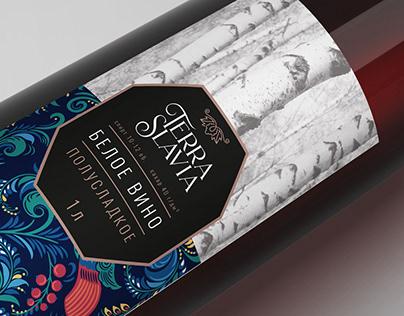 Дизайн серии упаковок вина