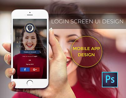 Login Screen Mobile App UI design