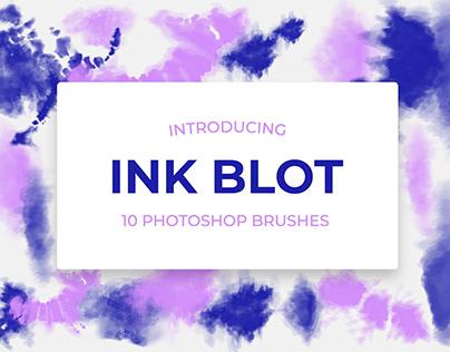 10 Ink Blot Photoshop Brushes