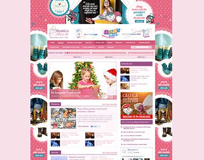 Mothercare portal website design