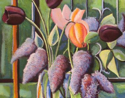 Lilacs, Tulips and Bowl