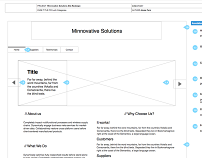 Minnovative Solutions Site Redesign