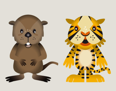 Baby animals design character
