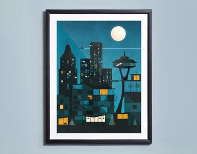 The Night Sky Illustration