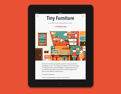 Tiny Furniture Digital Illustration