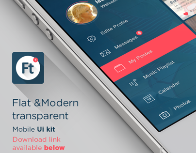 Flat Mobile UI/UX Concept +download