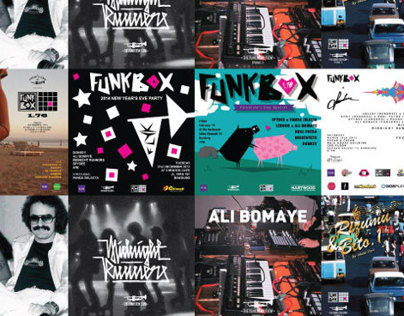 FLYK Podcast Covers & Funkbox Posters