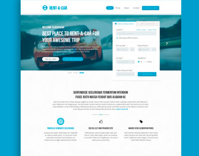Rent-a-car - Car Rental & Booking Template