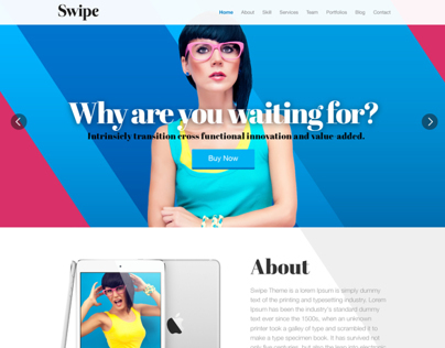 Swipe Wordpress & Html theme
