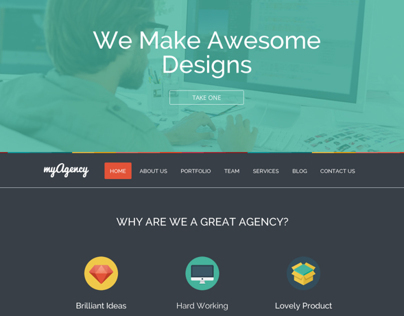 My agency Colorful theme