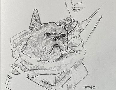 Mousco, the beloved dog of Jean Hugo