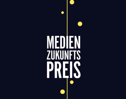 Trophäe für den Medien-Zukunfts-Preis + Drucksorten/Web