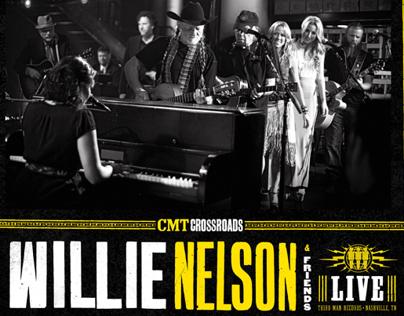 Willie Nelson Live LP design