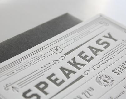 Secret Speakeasy Invitation