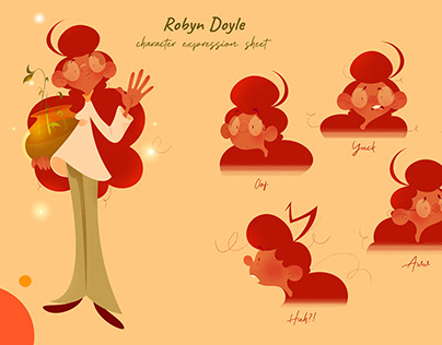 Robyn Doyle (2021 Redesign ; expression sheet)