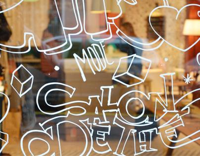 """""""Le Sept Cinq"""" window"""