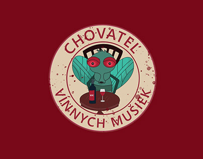 Wine Fly t-shirt illustration