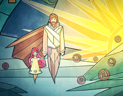 CHILD OF LIGHT / VIDEO GAME / STAINED GLASS CINEMATICS