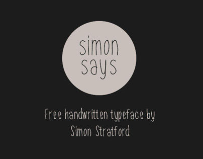Simon Says Free Typeface