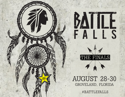 2014 Battle Falls Flyer - The Wakeskate Tour