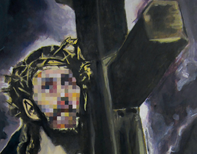 Pixel El Greco Christ Carrying the Cross | Kevin Flory