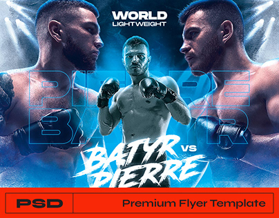 MMA Boxing Flyer - Photoshop Template