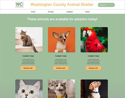 Animal Shelter Responsive Website