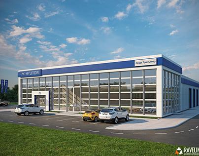 Визуализация концепции СТО «Hyundai»
