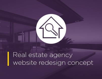 Redesign concept - Real Estate Agency website