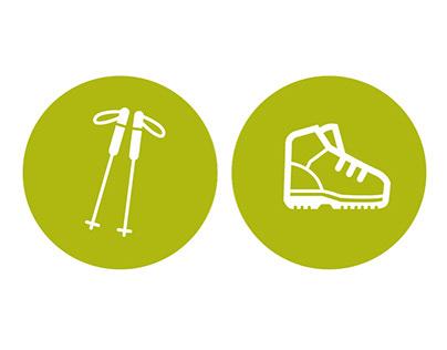 Go Sport Polska - icon set for 2018 outdoor catalogue