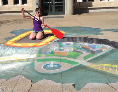 Carnegie Mellon University Chalk Art Piece