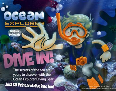 Ocean Explorer diving game kit