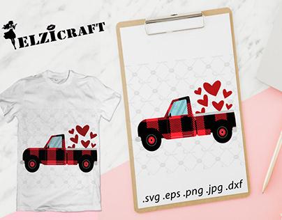 Buffalo Plaid Truck Design / SVG Cut File