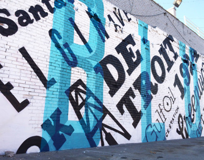 Typographic Mural   Blue Dome District