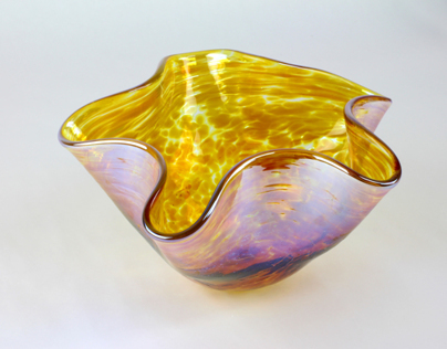 Fluted bowl.