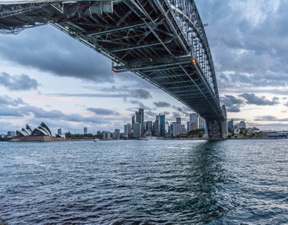 Harbour Bridge from Milsons Point - Evening