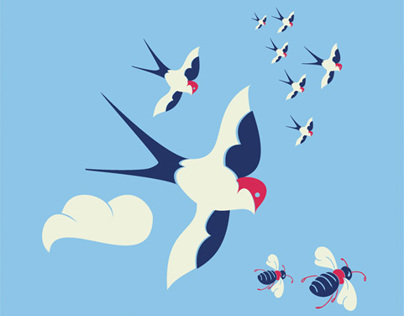 Pattern Design: Birds and the Bees