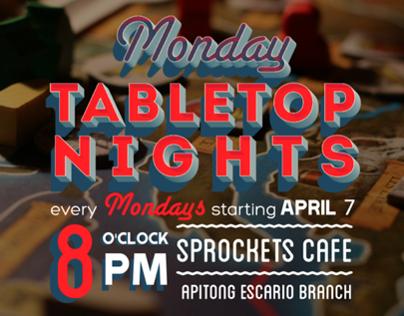 Sprockets Cafe: Tabletop Nights